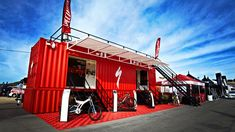 Specialized Bicycle Components, Inc. is a major American brand of bicycles and related products. Check Out Their Shipping Container Booth Here - Bicycle Cafe, Bicycle Store, Specialized Bikes, Bike Path, Container Design, Bicycle Components, Modern Architecture, Custom Homes, Coffee Shop