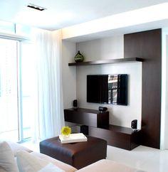 Me gusta la idea del mueble extendido en toda la pared