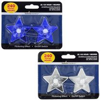 Bulk Luminessence Metallic Star-Shaped Flameless LED Tealight Candles, 2-ct. Packs at DollarTree.com