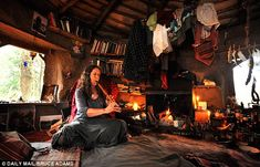 Emma Orbach who has lived without electricity, gas or running water etc. for more than 13 years