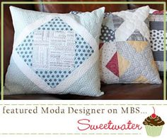 quilted pillows Verse in center