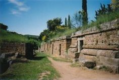 Ancient Etruscan burial site