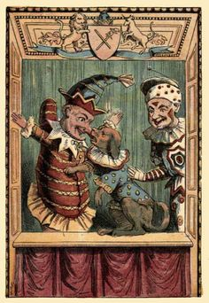 """""""Ez a nap volt a Covent Garden May Fayre, amely az első Punch és Judy előadást ünnepli rezes bandával, speciális bábmisével a Színészek Templomában, és annyi bábműsorral, amennyi a templomudvarra befér."""""""