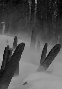 Snowy ancient gravestones. | CostMad do not sell this idea/product. Please visit our blog for more funky ideas