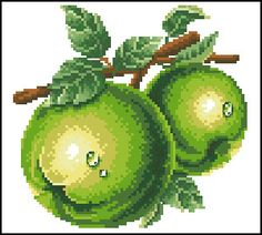 Fruit (your guess) Free Cross Stitch Charts, Cross Stitch Kits, Cross Stitch Designs, Cross Stitch Patterns, Cross Stitch Fruit, Cross Stitch Kitchen, Cross Stitch Flowers, Embroidery Art, Cross Stitch Embroidery