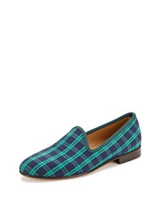 Prince Albert Plaid Slippers by Del Toro Shoes at Gilt
