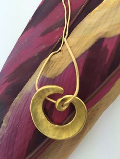Gold-plated swirl pendant necklace by StefansJewelry on Etsy