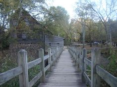 Bridge to old Grist Mill at the Eno River