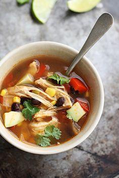 Baja chicken soup >> LeCremeDeLaCrumb.com