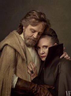 Mark Hamill and Carrie Fisher as Luke Skywalker and Leia Organa Solo - I LOVE THEM