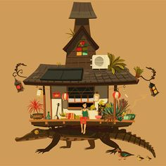 eatsleepdraw:  Alligator House Jonathan Stroh Tumblr