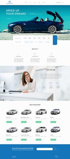 Car (BMW, Volkswagen) Web Design Concept