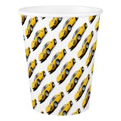 #Classic sports car paper cup - #drinkware #cool #special