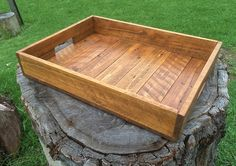 Reclaimed Pallet Wood Serving Tray by RoarTimberworks on Etsy