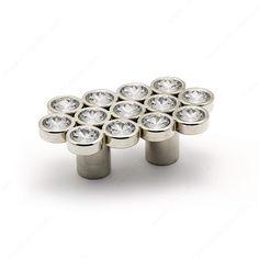 Contemporary Swarovski Crystal and Metal Pull #knobsandpulls #cabinethandlesandknobs