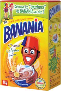 Les composants: La boîte est en carton et en matériau mixte à l'intérieur. Le couvercle est en plastique, relié à la boîte par une charnière. Les formats différent (familial,...), ainsi que l'emballage (recharges écologiques en plastique).  Décor : Les couleurs de la marque, jaune, rouge et bleu, font qu'elle se distingue aisément des autres. On peut voir le personnage phare devant un bol de chocolat chaud fumant intégrant les éléments de composition de la poudre.