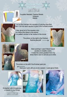 Elsa Cosplay tutorial. This looks...really difficult. But It's always better when you do it yourself!