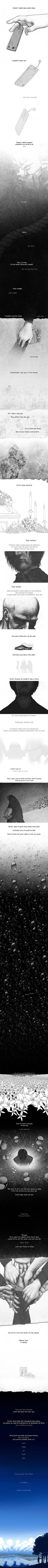 """""""Your suicide."""" by linnyxito Pretty sad when I read this. Reminded me of Mike. Beautifully illustrated."""