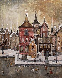 Winter town Marit Björnegran