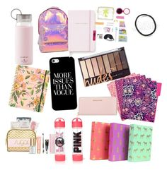 """""""Back to school in style"""" by trinity310 on Polyvore featuring beauty, Miss Selfridge, Casetify, Kate Spade, Lipsy, Rifle Paper Co, Vera Bradley and Michael Kors"""