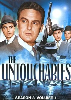 The Untouchables: Season 3 Volume The Untouchables chronicles the campaign of Eliot Ness (Robert Stack), the young U. Prohibition Bureau agent, to smash the beer and booze empire of Al Capone in Chicago. Vintage Tv, Vintage Movies, Mejores Series Tv, Tv Detectives, Old Shows, Great Tv Shows, Television Program, Theater, Old Tv