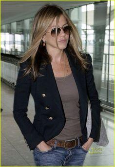 Black blazer/jeans/casual