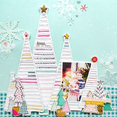 Joy & Happiness layout by @paigeevans for Kerri Bradford Studio - watch the process video! #scrapbooking