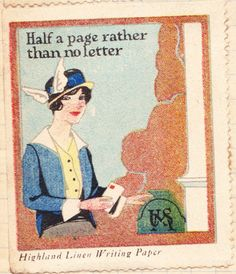 Papergreat: Vintage poster stamps from Highland Linen Writing Paper