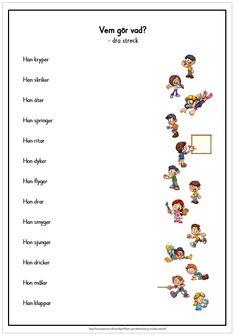 Teacher Education, School Teacher, Learn Swedish, Swedish Language, Math Worksheets, Homeschool, Teaching, Writing, Pdf
