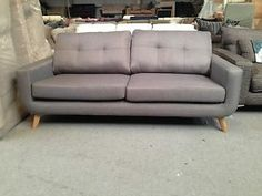 47335aa08b8 John Lewis Barbican medium fabric sofa - Harris grey - £1400 in store  Barbican