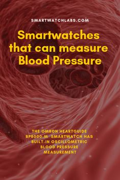 The Omron HeartGuide Smartwatch has built-in oscillometric blood pressure measurement and it is also FDA cleared. Omron just launched the device at CES in January Pressure Canning, Blood Pressure, Heart Conditions, American Heart Association, Medical Information, Smart Technologies, Fitness Tracker, Smartwatch, Health Problems