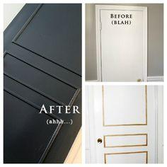 pre cut molding for flat doors