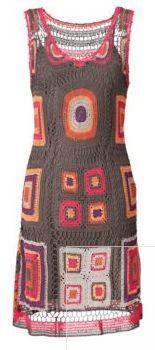 """Gehaakte jurk / crocheted dress  """"Not the same"""" dress, crochet."""