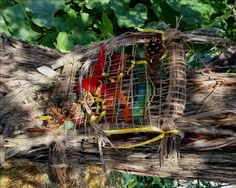 Southwestern Art,  Wall Hanging,  Primitive Indian,  Woven Art,  Fiber Art,  Woven Wall Hanging, Dimensional Weaving by EarthyArtColorado on Etsy