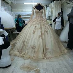 Get ball gown #weddingdresses like this custom designed for your taste. #Replicas of designs are also an option at www.dariuscordell.com