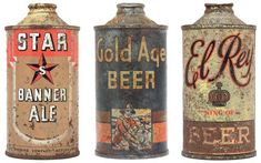 recent collection of 50 vintage beer cans comes from Dan Becker and Lance Wilson's Beer: A Genuine Collection of Cans.