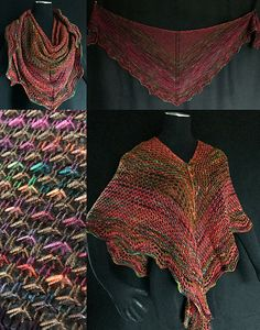 Divisionism Shawl pattern by Lavish Craft