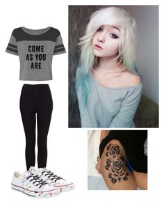 """""""Rlly bad sorry..."""" by summer0401 ❤ liked on Polyvore featuring Charlotte Russe, Topshop and Converse"""