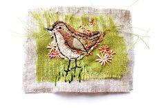 textile art by sarah dodd (lotus blossom)