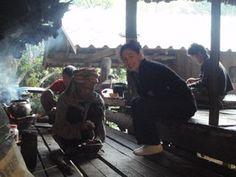 a bamboo hut kitchen