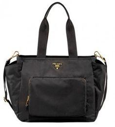 prada baby bag love how its slick black classy and huge
