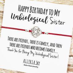 Happy Birthday Unbiological Sister Friendship Bracelet Best | Etsy Happy Birthday Soul Sister, Happy Birthday Messages, Birthday Quotes, Bff Birthday, Birthday Greetings, Birthday Ideas, Sister Quotes, Bff Quotes, Bob Marley