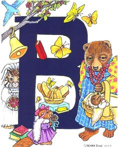 Animal Alphabet-b Painting