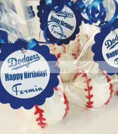 Baseball themed cake pops    Cakes and More by Nora