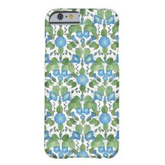 A pretty and slim case to protect your iPhone 6 smartphone, with a nostalgic pattern of Bright Blue Morning Glory Flowers on a White background. Part of the Posh & Painterly 'Morning Glory' collection. (This pattern will fit all of the cases.) Up to $47.50 - http://www.zazzle.com/nostalgic_blue_morning_glory_iphone_6_slim_case-256340432148438002?rf=238041988035411422&tc=pintw