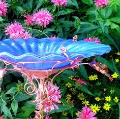 RETIREMENT GIFT Birdbath Stained Glass by GloriasGlassGarden, $58.00