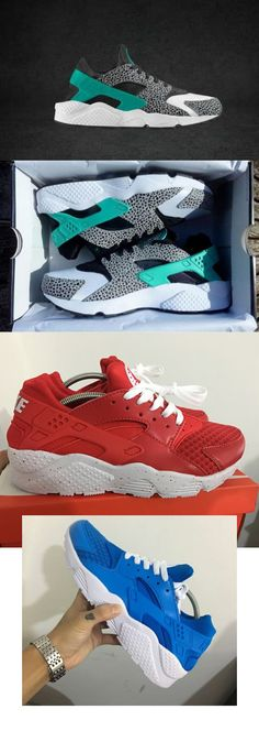 new style 05ca8 0c049 Nike Air Huarache iD Atmos Elephant Print And Sky Blue, Red shoes For Men  and Women only  50