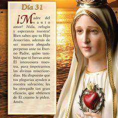 Mayo 31 Mes de nuestra Santisima Virgen Maria I Love You Mother, Mother Mary, Mama Mary, Strong Faith, Holy Mary, Catholic Prayers, God Jesus, Virgin Mary, Religion