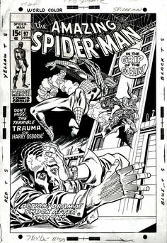 Unused cover to Amazing Spider-Man by Gil Kane and Frank Giacoia, along with a look at the cover as actually published, by John Romita. Comic Book Artists, Comic Artist, Comic Books Art, Spiderman Art, Amazing Spiderman, Spiderman Original, Comic Book Covers, Cover Art, Marvel Comics