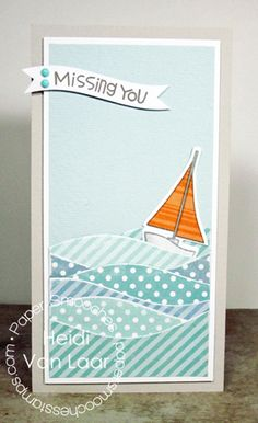 Making Waves Technique for Sea themed cards or papercraft projects